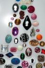 Cabochons used to imitate natural gems and semi-precious stones