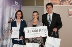 Vítězný tým La Tepete – Tereza Procházková, Tereza Vodrážková, Petr Havlík