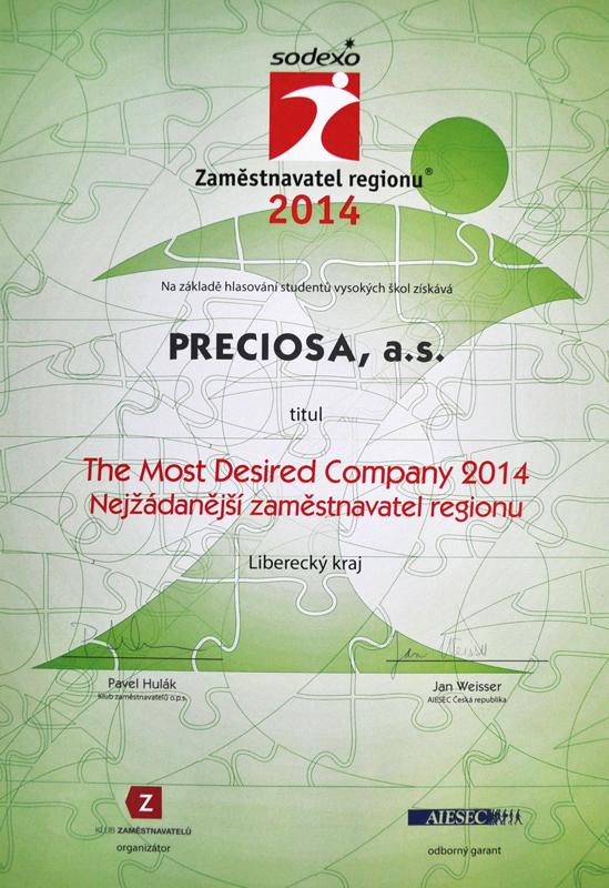 Nejžádanější zaměstanvatel regionu 2014